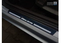 Universele RVS Instaplijsten met witte LED verlichting 'Special Edition' - 2-delig