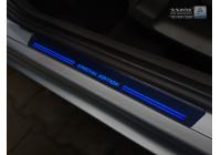 Universele RVS Instaplijsten met blauwe LED verlichting 'Special Edition' - 2-delig