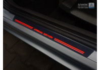 Universele RVS Instaplijsten met rode LED verlichting 'Special Edition' - 4-delig