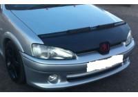 Motorkapsteenslaghoes Peugeot 106 1996-2003 zwart