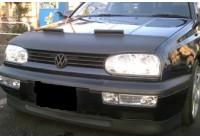 Motorkapsteenslaghoes Volkswagen Golf III 1992-1997+ cabrio III/IV zwart