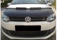 Motorkapsteenslaghoes Volkswagen Polo 6R 2009- zwart