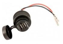 USB adapter - 2 poorten 5V-2.1A - inbouw - zwart