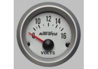 Performance instrument Voltmeter 8 > 16 Volt
