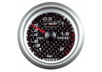 Simoni Racing Analoog Instrument Boost - turbodruk/vacuüm meter - 52mm - Carbon