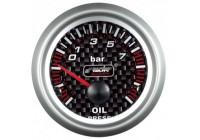 Simoni Racing Analoog Instrument - oliedruk - 52mm - Carbon