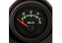 Performance Instrument Zwart Voltage 8-16 Volt 52mm