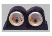 Meterhouder Horizontal 2 holes zwart