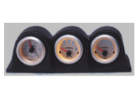 Meterhouder Horizontal 3 holes zwart