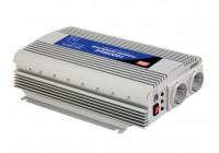 MEAN WELL - DC-AC INVERTER MET GEMODIFICEERDE SINUSGOLF - 1000 W - DUITS STOPCONTACT