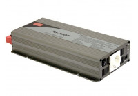 MEAN WELL - DC-AC INVERTER MET ZUIVERE SINUSGOLF  - 1000 W - DUITS STOPCONTACT