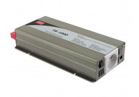 MEAN WELL - DC-AC INVERTER MET ZUIVERE SINUSGOLF  - 1000 W - PENAARDE