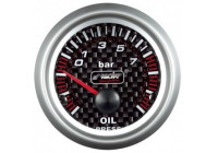 Simoni Racing Analoog Instrument - oliedruk - 52mm - Carbon