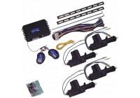 Universal centrallås kit - 4-dörrars -. Inkl 4-motorer och 2 fjärrkontroller