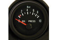 Svart Performance Instrument oljetryck 0-10 bar 52mm