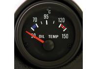 Svart Performance temperatur 50-150C Instrument Oil 52mm