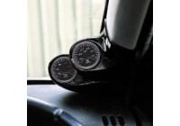 RGM A-pelare Mount höger - 2x 52mm - Renault Clio III 1998-2005 - Carbon-Look