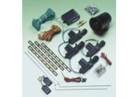 Universal central door locking set Incl. Alarm - 4 doors - Incl. 4 motors & 2 remote controls