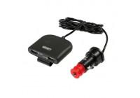 4-way USB car charger 12/24 Volt