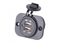 Built-in USB Adapter 2xUSB 5V-2.1A & 1A / Input 12V-24V