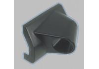 Meter holder Universal 1 hole black ABS