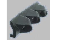Meter holder Universal 3 holes black ABS