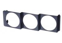 Performence Instrument DIN Panel Metal for 3x52 mm set black