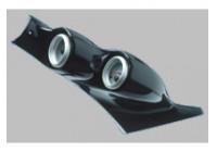 RGM A-Pillarmount Left - 2x 52mm - Volkswagen Golf III - Carbon-Look