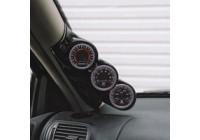 RGM A-Pillarmount Left - 3x 52mm - Volvo 850 / S70 / V70 - Black (ABS)