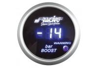Simoni Racing Digital Instrument Boost - turbo pressure / vacuum meter - 52mm