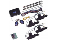 Universal central door lock set - 4 doors - Incl. 4 motors & 2 remote controls