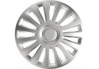 Enjoliveur de roue 4 pièces de luxe, argent, 16 pouces
