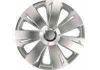 Jeu d'enjoliveurs de roue 4 pièces Energy RC Silver 15 pouces