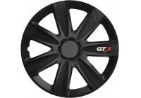 Jeu d'enjoliveurs de roue 4 pièces GTX Carbon Black 17 pouces
