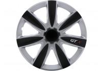 Jeu de 4 enjoliveurs GTX Carbon Black & Silver 17 pouces