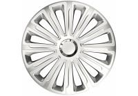 Jeu de enjoliveurs de roue 4 pièces Trend Silver 15 pouces