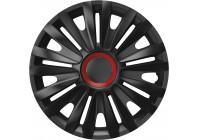 Jeu de raccords de roue 4 pièces Royal Red Ring Black 15 pouces