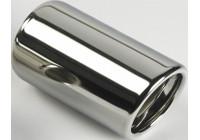 Enjoliveur d'échappement en acier inoxydable - rond 80mm - longueur 120mm - raccord 45-60mm