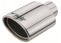 Enjoliveur ovale en acier inoxydable Simoni Racing - Diamètre 119x76mm - Longueur 178mm - Assemblage 55mm
