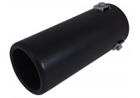 Pot d'échappement Acier / Noir - rond 70mm - longueur 170mm - raccordement 35-66mm