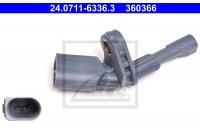 Capteur, vitesse de roue 24.0711-6336.3 ATE