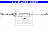 Tirette à câble, frein de stationnement 582708 ATE