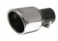 Simoni Racing Uitlaatsierstuk Rond/Schuin RVS - Diameter 90mm- Lengte 175mm - Montage 57mm