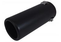 Uitlaatsierstuk Staal/Zwart - rond 70mm - lengte 170mm - 35-66mm aansluiting