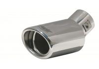 Simoni Racing Uitlaatsierstuk Ovaal/Schuin RVS - Diameter 87x66mm - Lengte 155 - Montage 30 - 47 mm