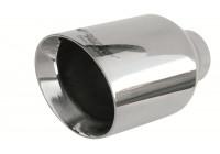 Simoni Racing Uitlaatsierstuk Rond/Schuin RVS - Diameter 114mm - Lengte 210mm - Montage 38 - 60mm