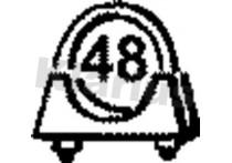 Uitlaatklem 48MM Universeel 10st