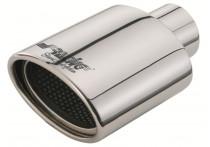 Simoni Racing Uitlaatsierstuk Ovaal RVS - Diameter 119x76mm - Lengte 178mm - Montage 55mm