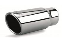 Simoni Racing Uitlaatsierstuk Rond/Schuin RVS - Diameter 76 - Lengte 180mm - Montage 37 - 63 mm