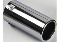 Uitlaatsierstuk Staal/Chroom - rond 80mm - lengte 170mm - 40-77mm aansluiting